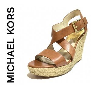 Michael Kors leather wedges rope